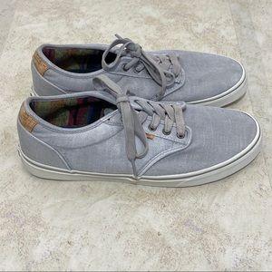 Vans Men's Gray With Faux Cork Detail Size 13